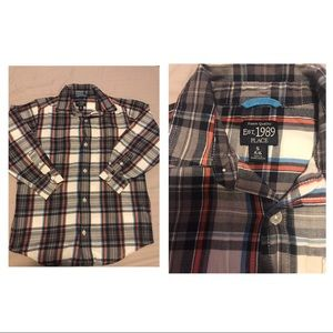 Set of 3 button up long sleeve shirts for boys